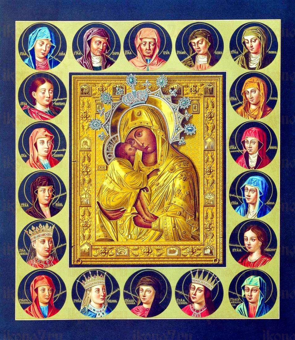Икона Донская икона Божией Матери (копия 18 века)