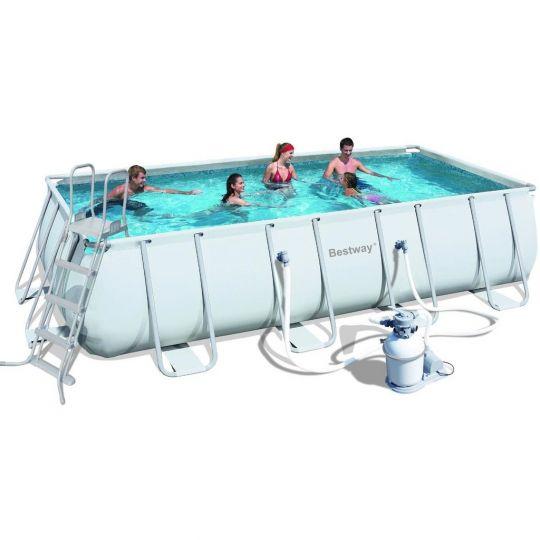 Каркасный бассейн Bestway 56466 (549х274х122) с песочным фильтром