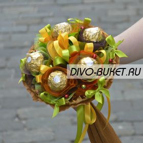"Букетик из конфет №710 ""Полька-бабочка"""
