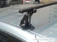 Багажник на крышу на Renault Sandero (Атлант), с опорами, стальные дуги