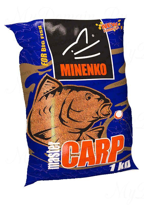 Прикормка МИНЕНКО Master Carp Арахис, вес 1 кг