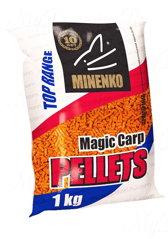 Прикормка МИНЕНКО Magic Carp Pellets Tutti-frutti (Тутти-фрутти), диаметр 10 мм, вес 1 кг