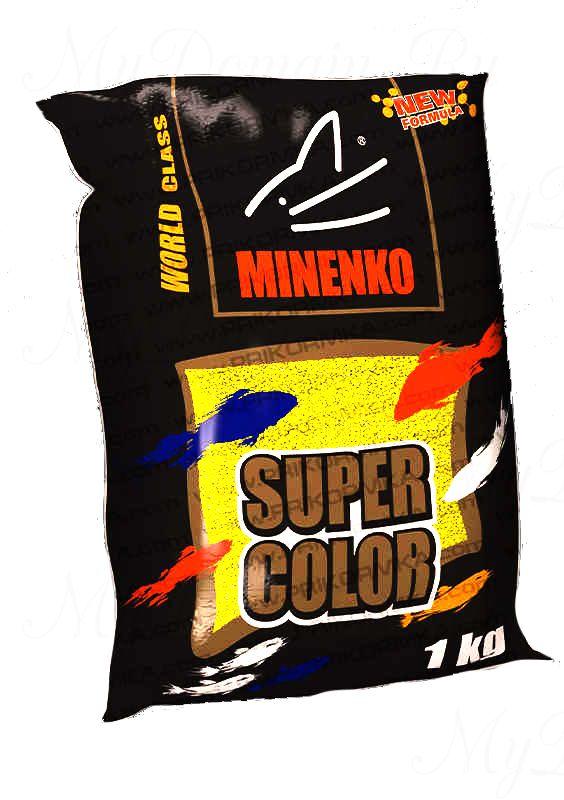 Прикормка МИНЕНКО Super Color Crucian (Карась), Желтый, вес 1 кг