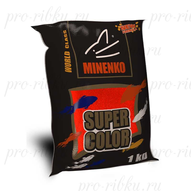 Прикормка МИНЕНКО Super Color Carp (Карп), Красный, вес 1 кг