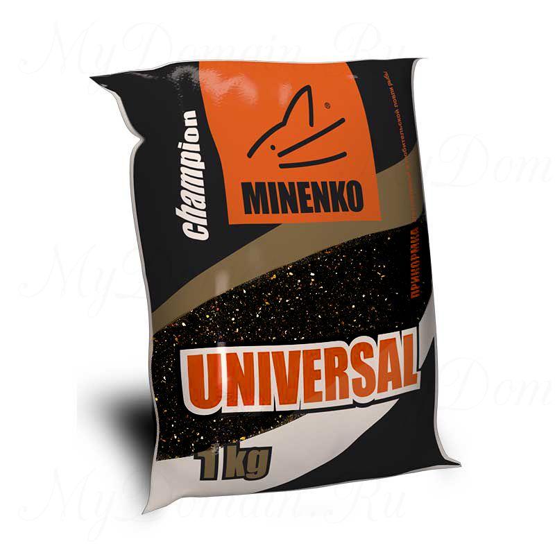 Прикормка МИНЕНКО Universal (черная), вес 1 кг