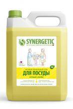 Антибактериальный гель для посуды, фруктов и игрушек с ароматом лимона, 5 л