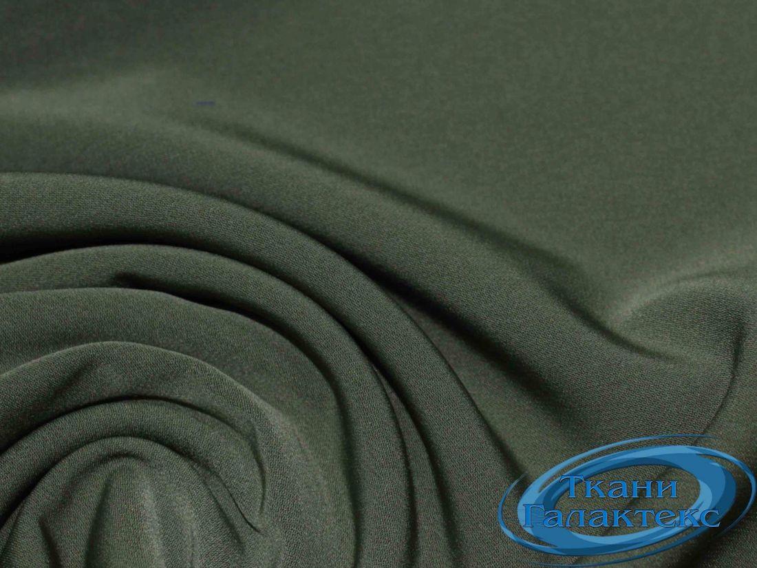 Костюмная ткань нано стрейч 16661/C#3 цвет хаки