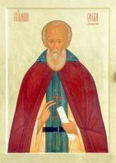 Икона Савва Стромынский (рукописная)