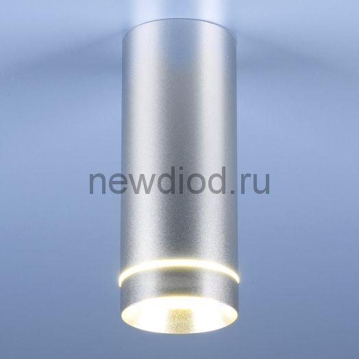 Накладной точечный светильник DLR022 12W 4200K хром матовый