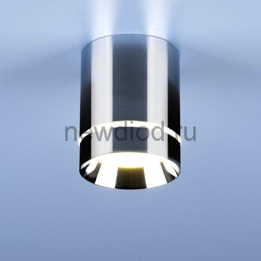 Накладной точечный светильник DLR021 9W 4200K хром