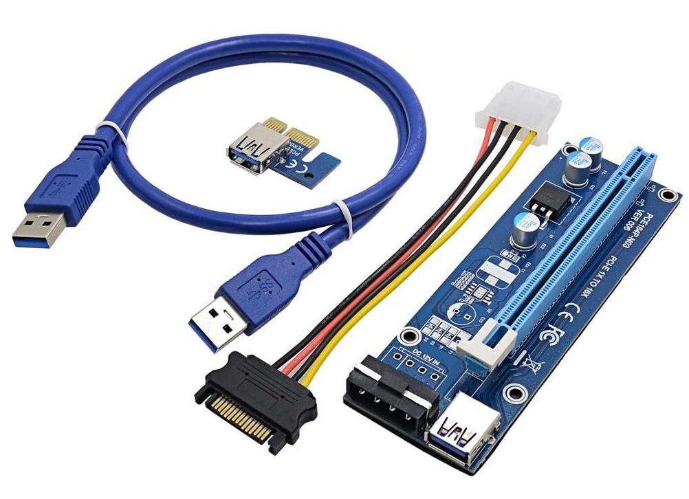 Райзер ver.006 molex PCI-E PCI Express Riser USB 3.0