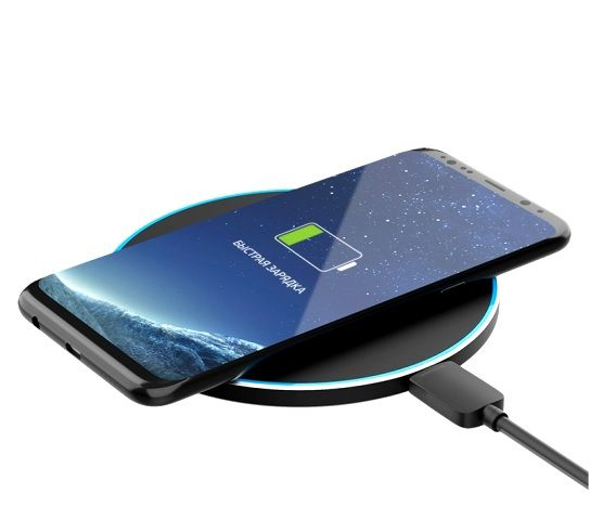 Беспроводное зарядное устройство OLMIO, 10W Quick Charge