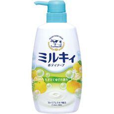"""Жидкое пенное мыло для тела c керамидами и молочными протеинами COW BRAND """"Milky"""", цитрусовый аромат, диспенсер 550 мл."""
