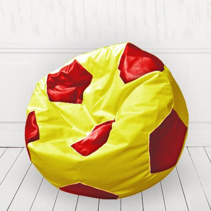 Кресло мяч Желтый с красным