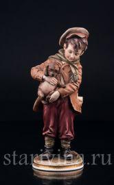 Мальчик со щенком, B.Merli, Италия, сер. 20 в