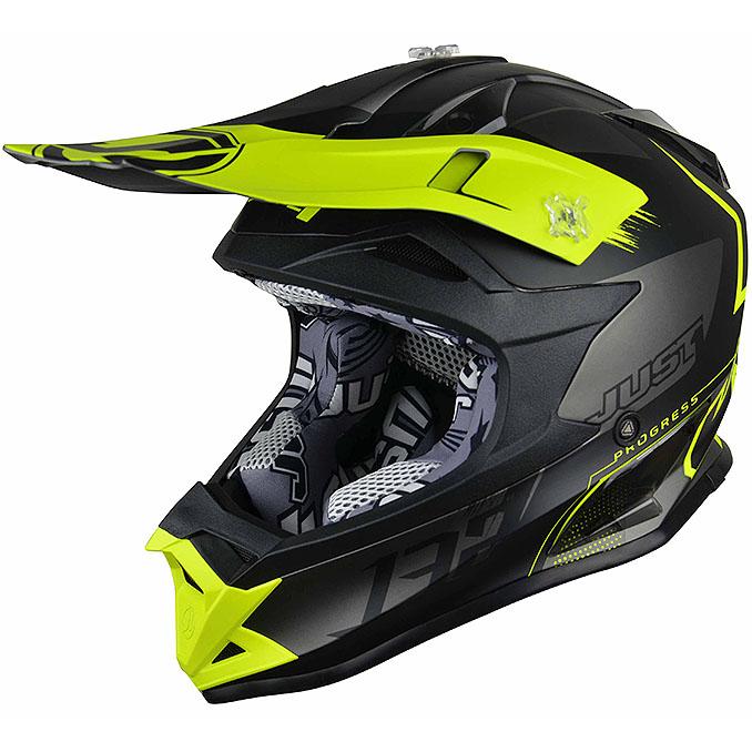 Just1 - J32 Pro Kick Yellow/Black/Titanium шлем, жёлто-чёрно-титановый матовый