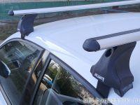 Багажник на крышу Volkswagen Polo sedan / hatchback, Атлант: аэродинамические дуги и опоры типа Е