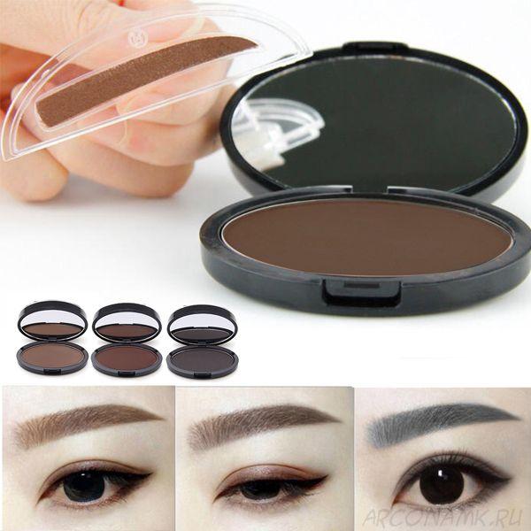 Набор теней для бровей с двумя штампами Kylie Quick Makeup Eyebrow