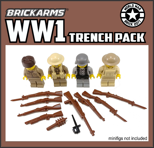 NEW Brickarms M1911 V2 PISTOL Gunmetal compatible with Lego Minifigures