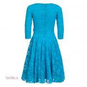 бирюзовое платье для бальных танцев
