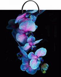 """Пакет с пластиковой ручкой  40х44 см """"Голубая орхидея""""  10 шт. 100 мкм"""