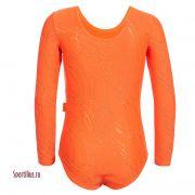 купальник с длинными рукавами для выступлений, оранжевого цвета