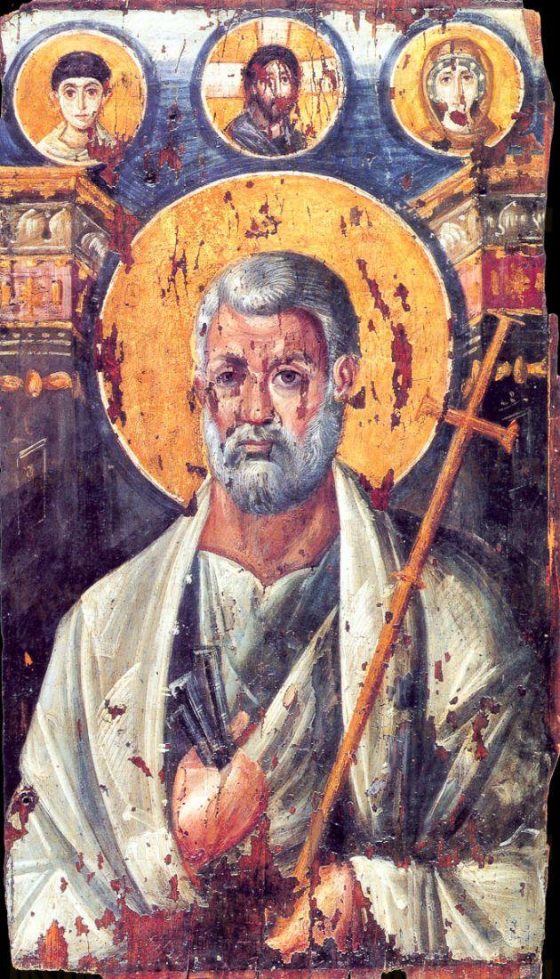 Петр, апостол (копия иконы VI века)