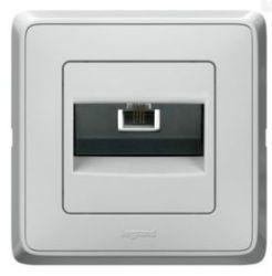 Розетка компьютерная Legrand Cariva  белая (арт.773641)