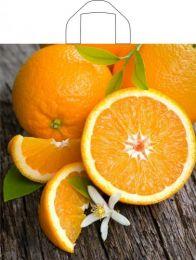 """Пакет с петл. ручкой  42х44 см """"Свежий апельсин""""  25 шт. 35 мкм ПВД"""