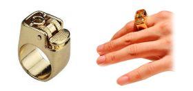 Золотой перстень зажигалка