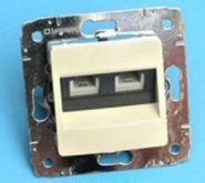 Розетка компьютерная 2хRJ45 Кат.6 Legrand Cariva (арт.773742)