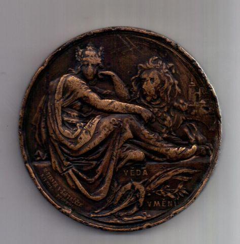 медаль 1890 г. Богемия - Чехия. Австрия