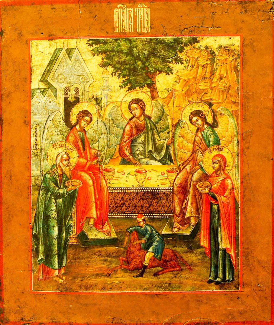 Икона Троица (копия старинной)