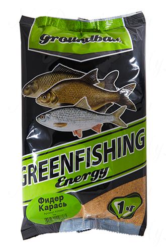 Прикормка GREENFISHING Energy Фидер Карась (Лето), вес 1 кг