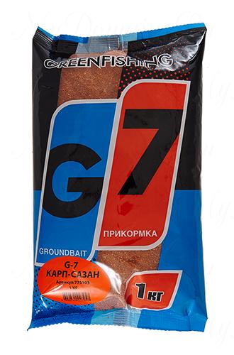 "Прикормка GREENFISHING ""G-7 Карп-Сазан"", вес 1 кг"