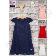 Платье LILAX с ободком (цвет пудра)