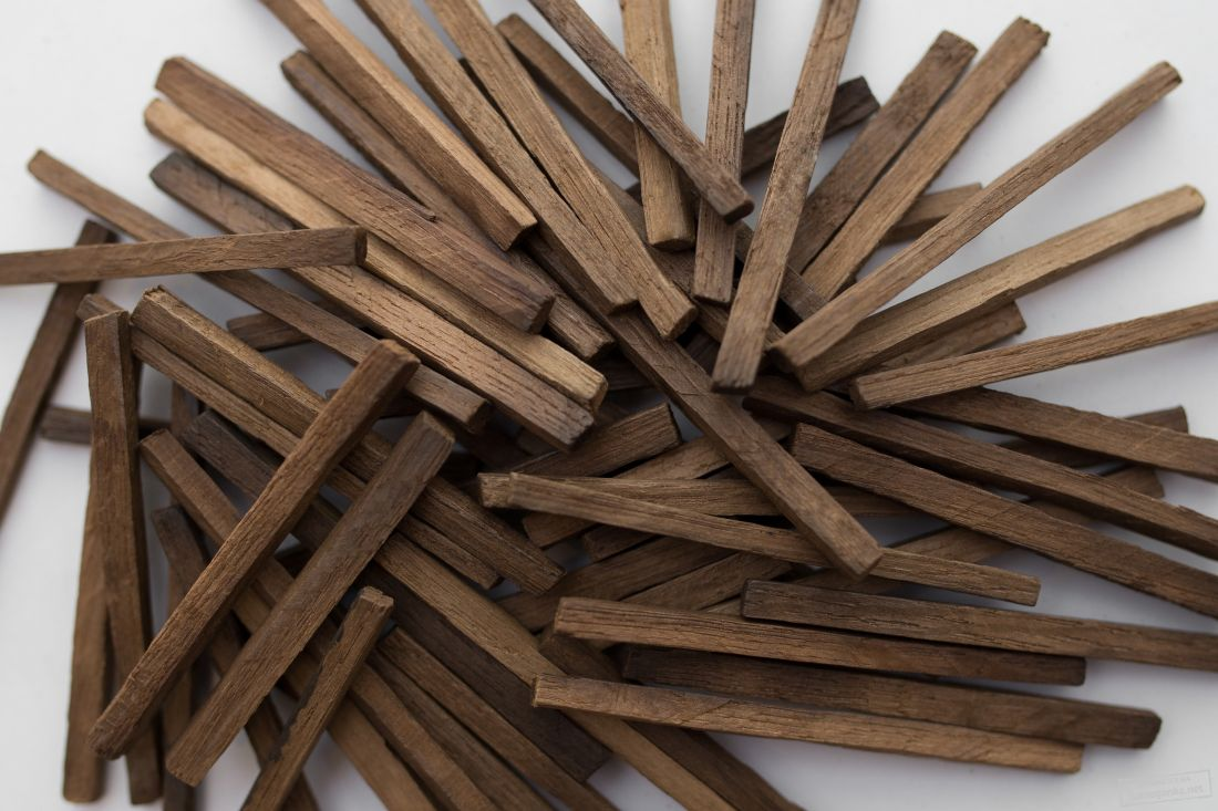 Дубовые палочки, средний обжиг, 100 гр