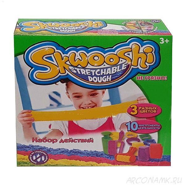 Тесто для лепки с формочками Skwooshi