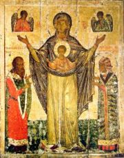 Мирожская икона Божией Матери (копия старинной)