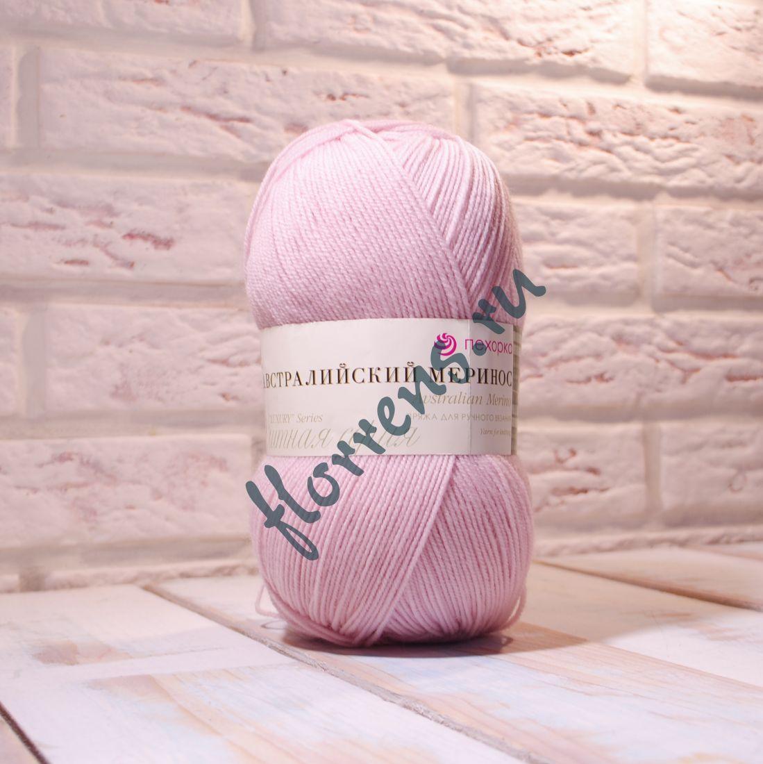 Пряжа Австралийский меринос / 374 розовый беж