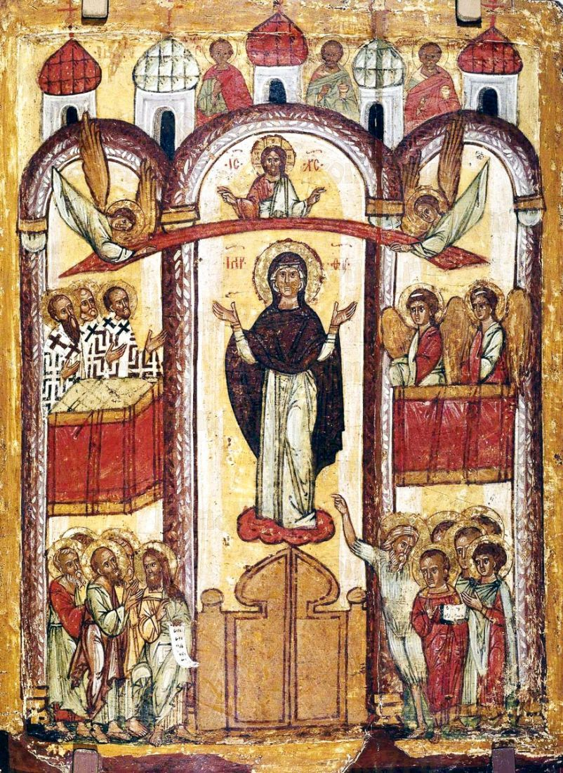 Икона Покров Пресвятой Богородицы икона Божией Матери (копия старинной)