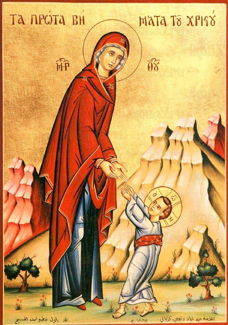 Икона Первые шаги Иисуса Христа