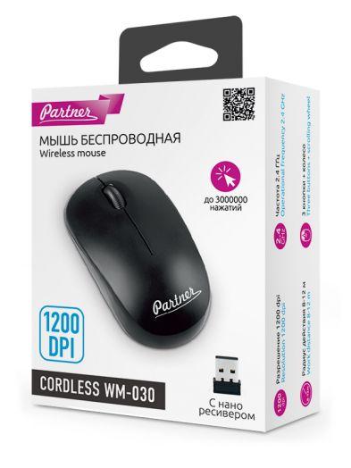 Мышь беспроводная Partner Cordless WM-030 черная