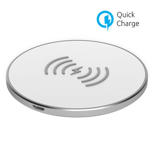 Беспроводное зарядное устройство OLMIO 10W Quick Charge, белое