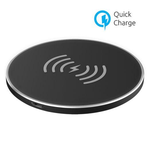 Беспроводное зарядное устройство OLMIO 10W Quick Charge, черное