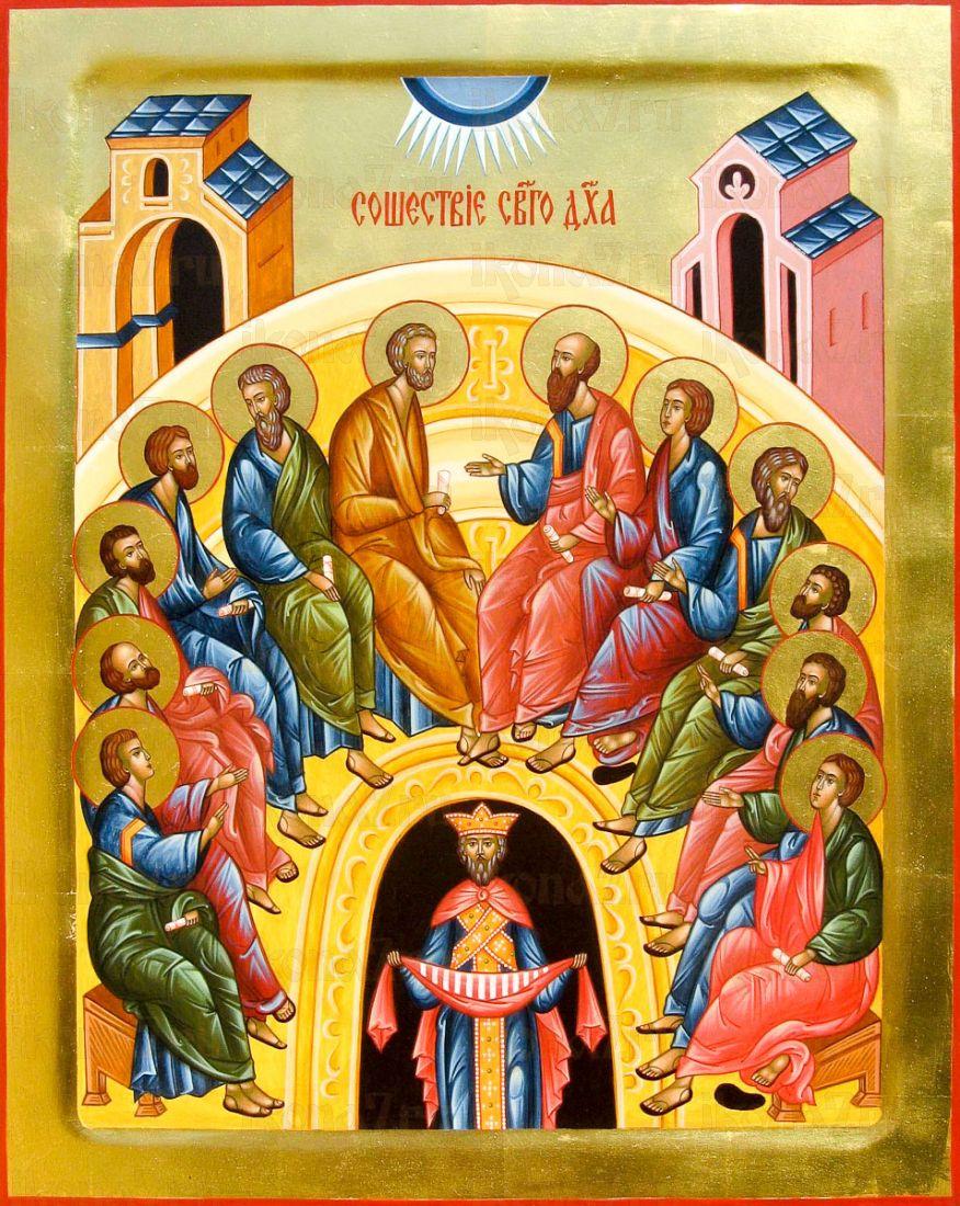 Сошествие Святого Духа на апостолов (икона на дереве)