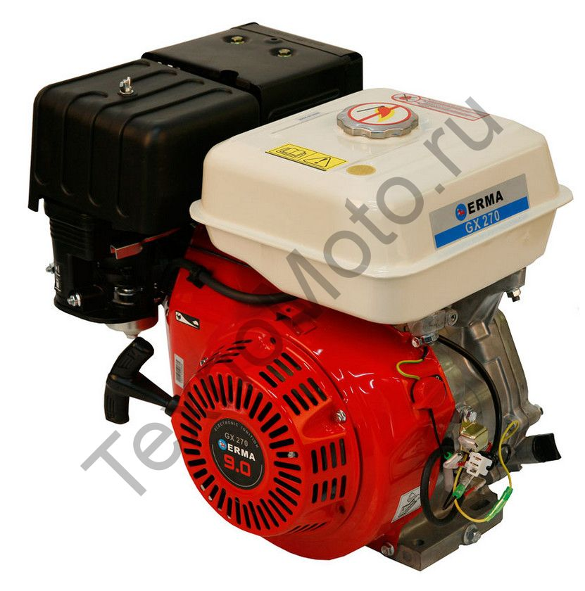 Двигатель Erma Power GX270 D25(9 л. с.) катушка освещения 60Вт, аналог Honda GX270