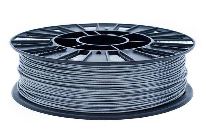 Rec pla пластик для 3d принтера ø1.75 серебристый металлик 0,75кг