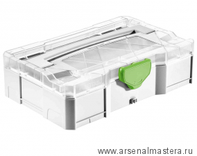 Мини-систейнер с прозрачной крышкой FESTOOL T-LOC SYS-MINI 1 TL TRA 203813