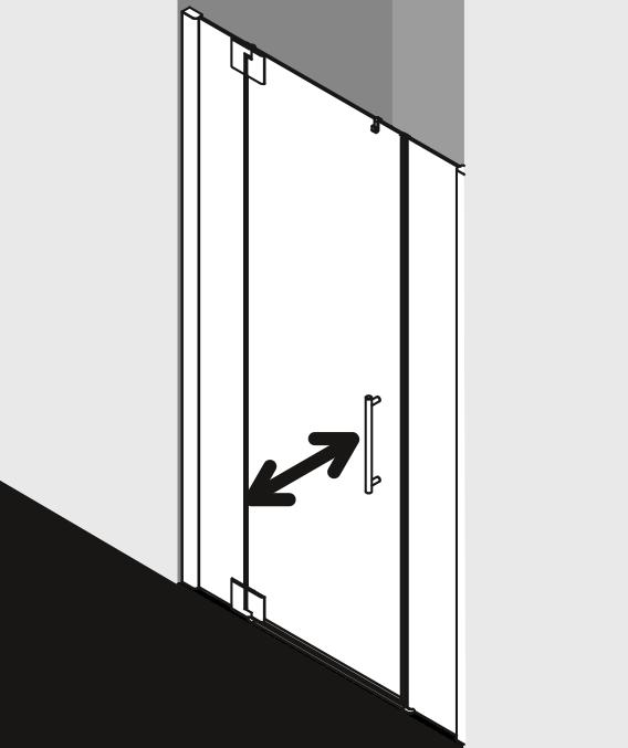 Душевая дверь Kermi Pasa XP в нишу PX 1GR/L ФОТО